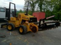 for sale case 360 trencher with 5' power angle blade