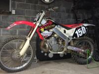 97 cr250 dirtbike in excellent shape has factory
