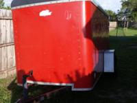 5x10 enclosed trailer Has some dings anf scratches and