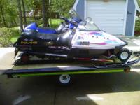 1997 Polaris XCF, 440 fan. Has hood from XCR on it,