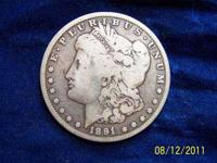 1891 Carson City silver dollar. Relive the days of the
