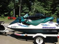1997 seadoo gtx three-seater, hydro turf mats, new