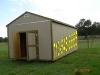 Gable Style 12x24x10 8' Sidewalls. Brand New Built on
