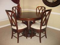For sale is a gorgeous solid wood, cherry finished,