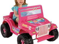 The Fisher-Price Power Wheels Barbie Jeep Ride-On, in