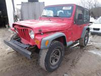 We recently received this Poppy Red 1997 Jeep Wrangler