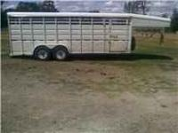 1998 Circle D 20' X 7' goose neck stock trailer with