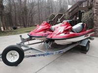 98 And 99 Kawasaki 1100 STX Jetskis On 2001 Double