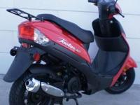 RED/BLACK 98 SUZUKI KATANA 600-9K, tinted windshield, 2