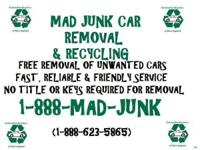 FREE REMOVAL OF JUNK CARS AND TRUCKS. Title is not