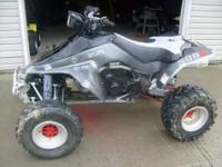 This is a 1989 Suzuki Lt500R or Quadzilla it has been