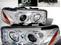 New 99-06 GMC Sierra Yukon Chrome Housing Projector