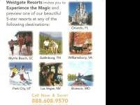 4 days 3 night at any of the five resorts Westgate