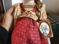 Porcelain Doll Rapunzel in NEW CONDITION. stored in its