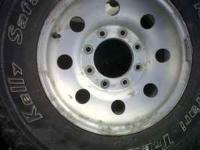 99 F250 aluminum rims and tires. Tires are 20 to 30