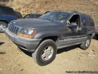Dismantling: '99 Jeep Grand cherokee We have, for
