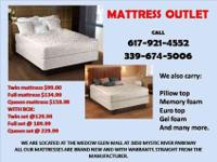 THE TWIN SIZE MATTRESS AND BOX IS AT $129.99 CHECK THE