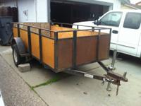 i have a trailer 5x10 good for any job,has a metal