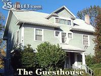 We have 5 furnished rooms in the guesthouse, each