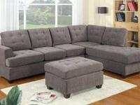 Great sectional at a great price! Enhanced seat depth,