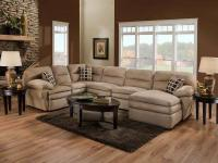Brand new sway linen sectional. 3 piece set with throw