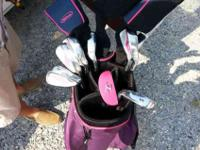 Never Used Lady's Pink Golf Club Set , Pink Mallet