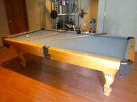 This Beach brand pool table was purchased new and used
