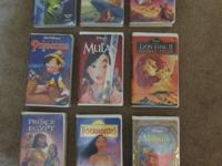 9 Disney VHS Movies For Sale All movies include case