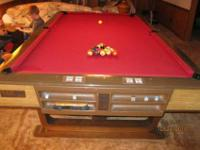 9 Foot Brunswick Vip Pooltable For Sale 3 piece slate