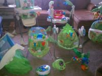 Hi I have a complete fisher price rainforest set asking