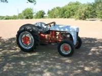 Tractor in good shape, new tires, converted to 12-volt