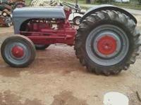 Nice 9n ford tractor new paint, good tires original 6
