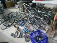 I have just a bunch of bmx bike parts am cleaning the