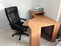 I'm selling a fancy look desk with a comfortable chair.