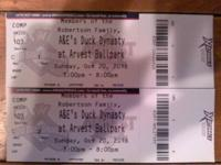 I have 2 tickets to the Duck Dynasty at Arvest Ballpark