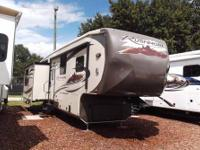 A 34' with 3 slides and power awning bring in your