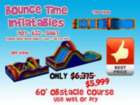A+ Inflatable 62' obstacle course for Sale  Condition: