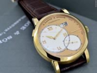 A. Lange & Sohne 115.021 Grand Lange 1, 18k Yellow Gold
