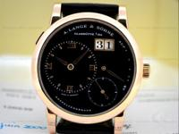 A. Lange & Sohne 101.031 Lange 1, 18k Rose Gold on a