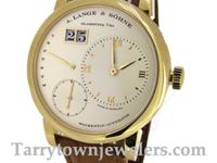 New Lange 1 Daymatic Ref# 320.021 in 18K Yellow gold,