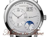 The A. Lange and Sohne Lange 1 Moonphase in platinum