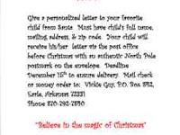 Send your child a letter from Santa, only $5.00! Letter