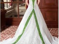 A-Line/Princess Halter Chapel Train Satin Wedding
