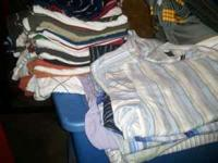 15 collar shirts, about 7 dress shirts long sleve,