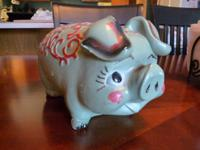 Adorable little piggy trying to find a brand-new house.