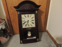 "SELLING MY SOLID """" MAHOGANY """" WOOD WALL CLOCK"
