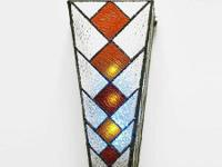 Cone-shaped Stained Glass Sconce from Overstock.com,