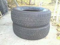 I am selling two starfire 265 75 16 tires. I bought