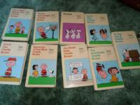 set of 9 comic strip hard back books by MATTEL. some