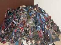 I have a stack of over 800 mens silk ties. Ties make